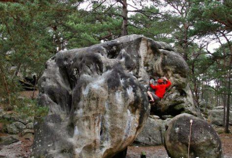 Stage escalade à Fontainebleau : progresser techniquement avec un moniteur