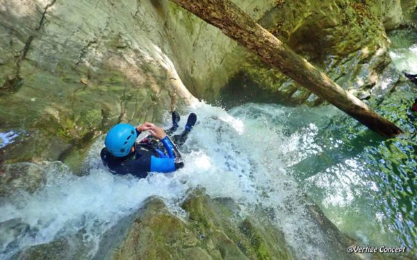 Le canyon des Ecouges près de Grenoble (Isère)