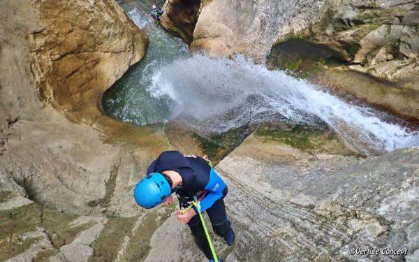 Le canyon des Ecouges en partie haute